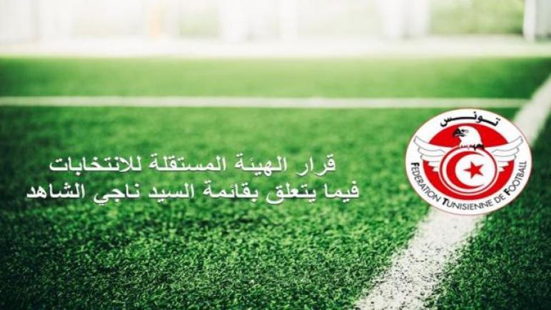 قرار الهيئة المستقلة للانتخابات بجامعة الكرة فيما يتعلق بقائمة ناجي الشاهد