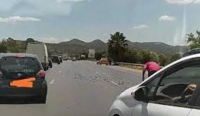 بعد محطة الاستخلاص بمرناق: مسامير ملقاة على الطريق السيارة… الحرس الوطني يوضح وهذا عدد السيارات المتضررة