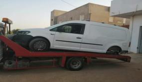 بالصور: هذا ما حجزته فرقة الحرس الديواني داخل سيارة بالرقاب