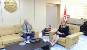 فحوى لقاء وزيرة العدل بالأمين العام المساعد للاتحاد العام التونسي للشغل المكلف بالوظيفة العمومية