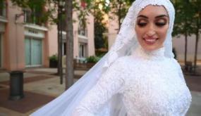 بالفيديو-كانت في جلسة تصوير: هكذا واجهت عروس لبنانية الموت ونجت منه بأعجوبة لحظة انفجار بيروت