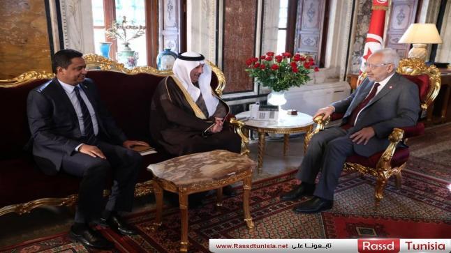 سفير السعودية بتونس يلتقي رئيس مجلس النواب راشد الغنوشي و يبلغه تهاني خادم الحرمين الشريفين