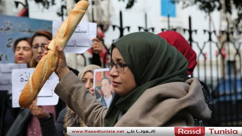 شباب تونس يقطعون مسافات طويلة للمطالبة بحقوقهم