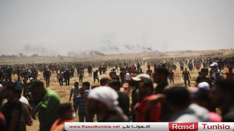 """إصابات بقمع الاحتلال """"مسيرة العودة"""" على حدود غزة"""