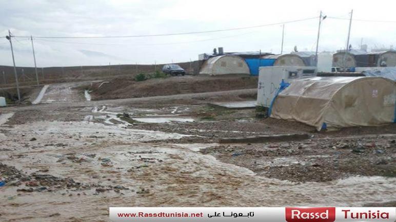 عشرات العائلات النازحة بمخيم الجبل في ريف إدلب تفتقد مقومات الحياة