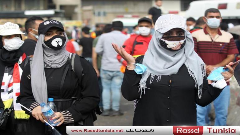 عراقيات يشاركن بقوة في الاحتجاجات