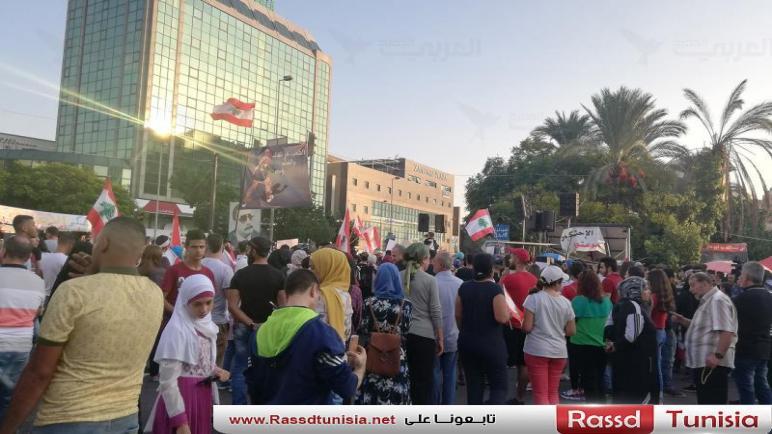 """انتفاضة لبنان: بدء توافد المحتجين إلى الساحات للمشاركة بـ""""أحد الوحدة"""""""