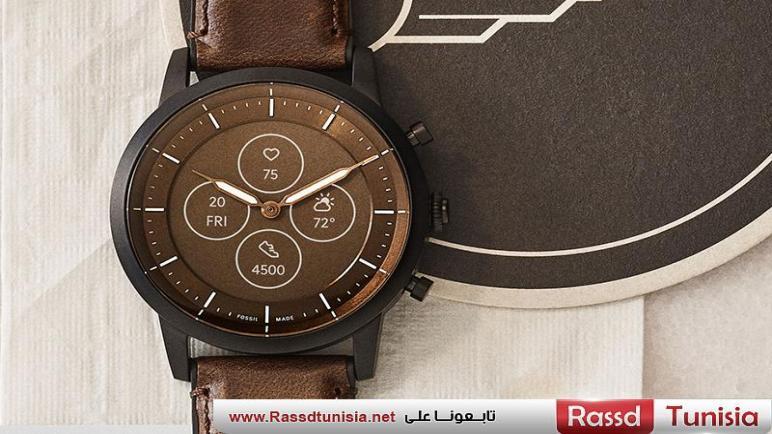 Fossil Hybrid HR تأتي مع عقارب الساعة التقليدية وشاشة بتقنية الحبر الإلكتروني
