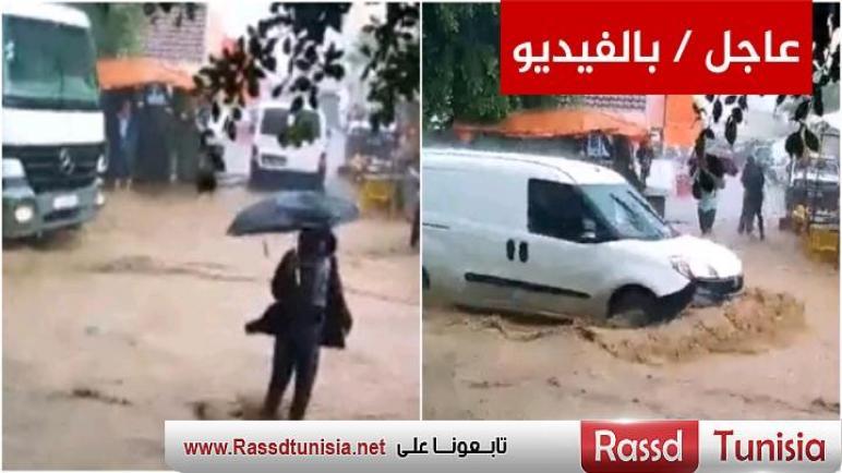 متابعة / بني خلاد : أمطار طوفانية تغرق المدينة و الأهالي يستغيثون ( فيديو)