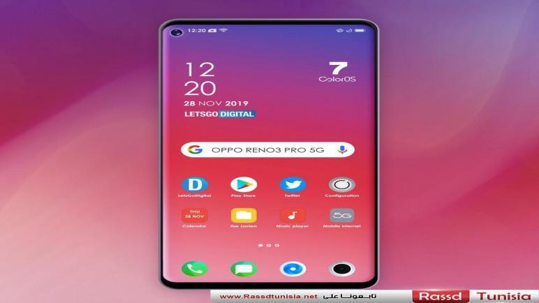 التصميم الكامل لواجهة الهاتف Oppo Reno 3 Pro 5G يظهر في صورة جديدة
