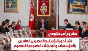 مشروع أمر حكومي يتعلّق بنشر أجور الرؤساء والمديرين العامين بالمؤسسات والمنشآت العمومية