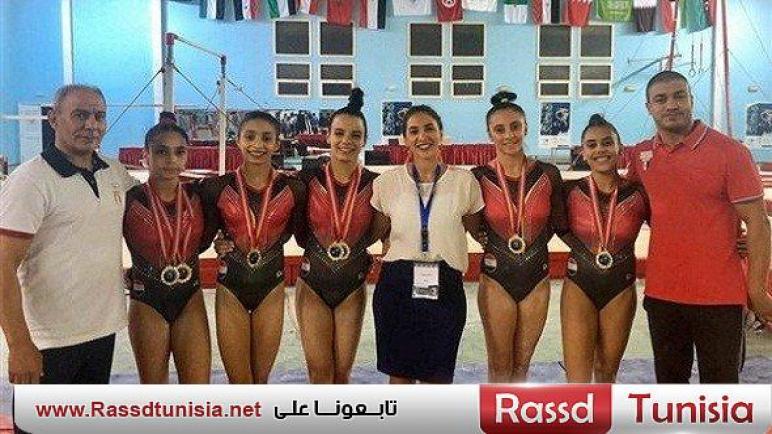 أبطال وادي دجلة يحصدون 11 ميدالية في البطولة العربية للجمباز الفني