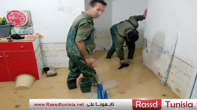 بالصور/الجيش الوطني يتدخّل لنجدة المواطنين بولاية أريانة جرّاء الفيضانات..