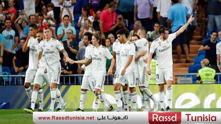 ريال مدريد يتصدر البطولة الإسبانية بعد الفوز على إسبانيول